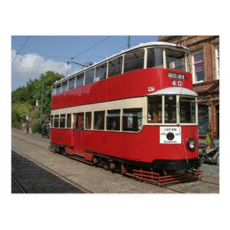 De tram Nr 331 van Londen in Crich Briefkaart