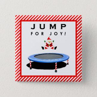 De trampolinegiften van Kerstmis Vierkante Button 5,1 Cm
