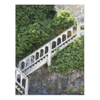 De trap van de steen briefkaart