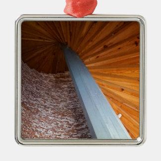 De Trap van Sapelo Zilverkleurig Vierkant Ornament