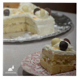 De Treeft van de Ceramiektegel van de cake Keramisch Tegeltje
