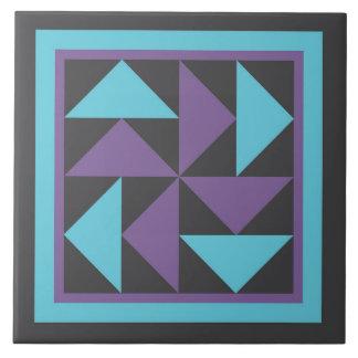 De Treeft van het dekbed - (paars/het zwarte) Keramisch Tegeltje