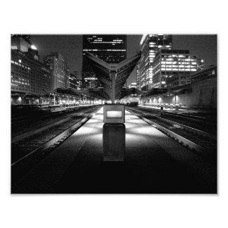 De Trein van de middernacht Foto Afdruk