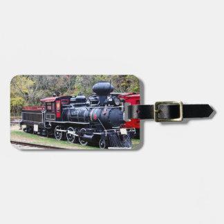De Trein van de Motor van de steenkool Kofferlabel