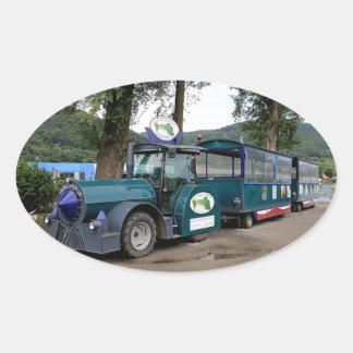 De trein van de Pendel van de toerist, Durnstein, Ovale Sticker