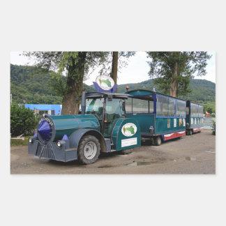 De trein van de Pendel van de toerist, Durnstein, Rechthoekige Sticker