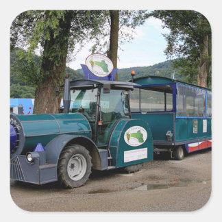 De trein van de Pendel van de toerist, Durnstein, Vierkante Sticker