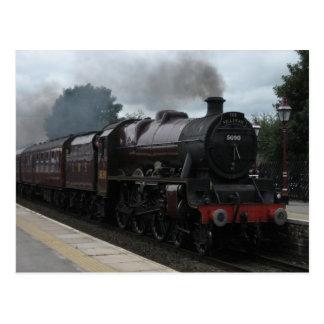 De trein van de stoom - Briefkaart