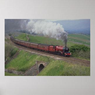 De trein van de stoom poster
