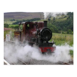 De treinbriefkaart van de stoom briefkaart