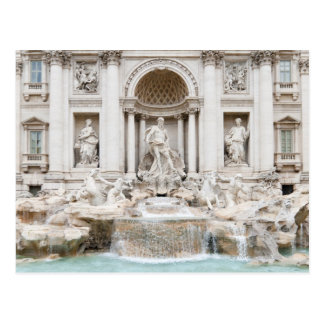 De Trevi Fontein (het Italiaans: Fontana Di Trevi) Briefkaart