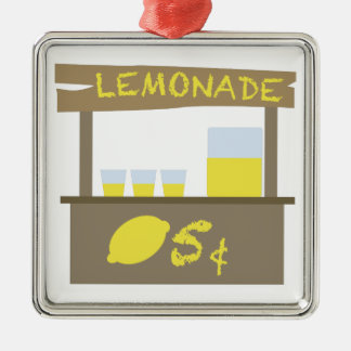 De Tribune van de limonade Zilverkleurig Vierkant Ornament