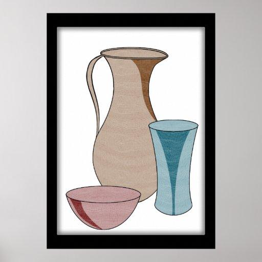 De Tribunes van het aardewerk alleen in Schoonheid Poster