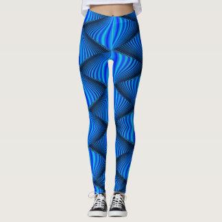 De trillende Blauwe Beenkappen van de Zigzag Leggings