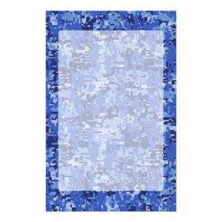 De trillende Blauwe Digitale Textuur van de Briefpapier