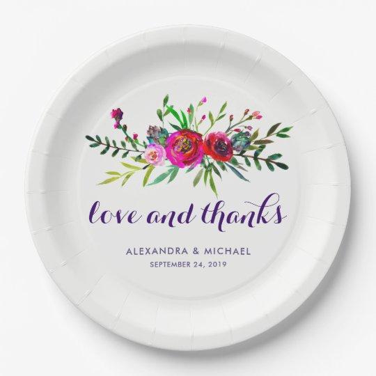 De trillende BloemenLiefde en het Bedankt van het Papieren Bordjes
