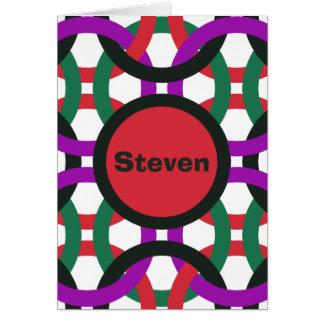 De trillende Geometrische Multicolored Cirkels Kaart