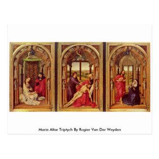 De Triptiek van het Altaar van Marie door Rogier Briefkaart