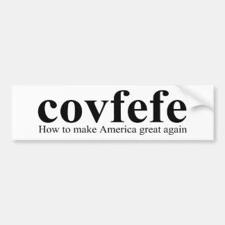 De Troef van de Definitie van Covfefe Bumpersticker