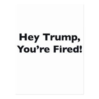 De Troef van Hey, wordt u in brand gestoken! Briefkaart