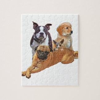 De troep van de hond met kat puzzel