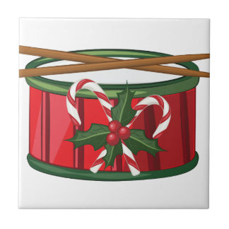 De Trommel van Kerstmis Tegeltje Vierkant Small