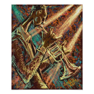 De Trompet van de JAZZ Poster