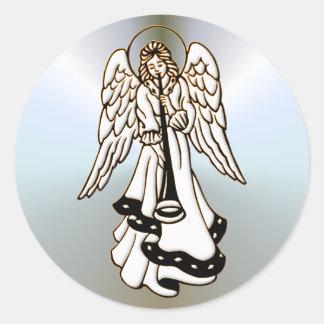 De Trompet van het Messing van de Engel van Ronde Sticker