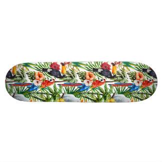 De tropisch vogels van de waterverf en 20,0 cm skateboard deck