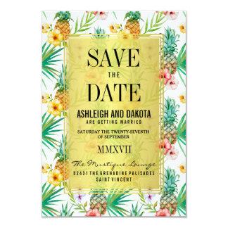 De tropische Ananas & de Hibiscus bewaren de Datum Kaart