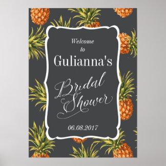 De tropische Ananas van het Welkome Teken van het Poster