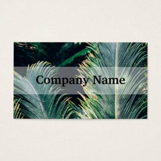 De tropische Bladeren van de Palm, Exotische Foto Visitekaartjes