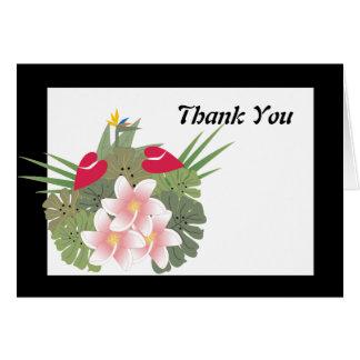 De tropische Bloemen danken u kaarden Briefkaarten 0