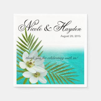 De Tropische Bloemen van het Strand van Aloha Papieren Servetten