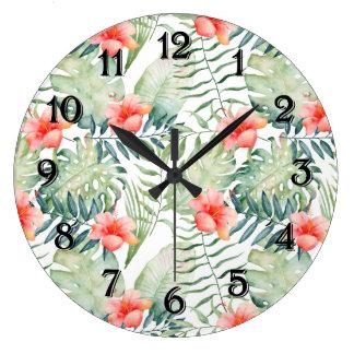 De tropische BloemenWaterverf van de Hibiscus van Grote Klok