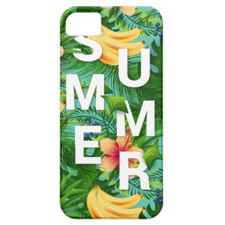 De tropische de zomertekst op banaan bloeit barely there iPhone 5 hoesje