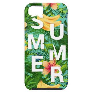 De tropische de zomertekst op banaan bloeit tough iPhone 5 hoesje