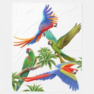 De tropische Deken van de Vacht van de Papegaaien