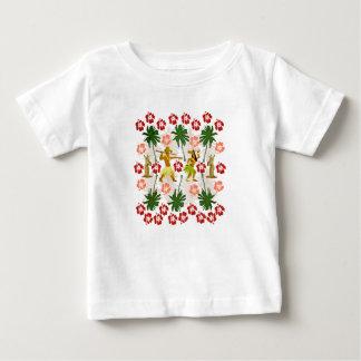 De tropische Eenhoorn van het Eiland Baby T Shirts
