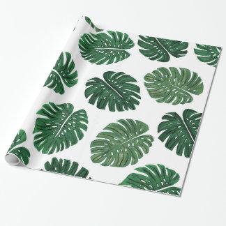 De tropische Hand Geschilderde Bladeren van het Inpakpapier