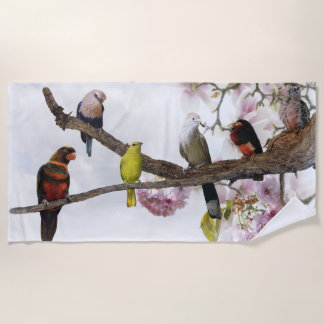 De tropische Handdoek van het Strand van Vogels