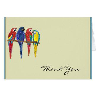 De tropische Papegaaien danken u Briefkaarten 0