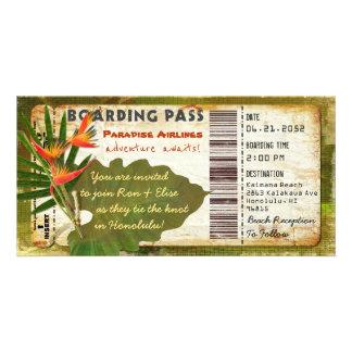 De tropische Uitnodiging van de Instapkaart van