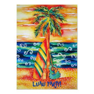 De tropische Uitnodiging van de Partij Luau
