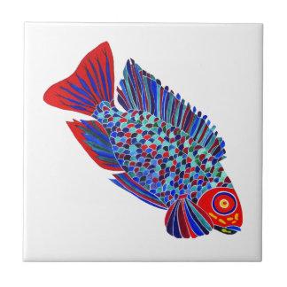 De tropische vissen ontwerpen decoratieve tegel keramisch tegeltje