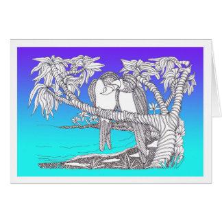 De tropische Vogels van de Liefde in de Blauw van Kaart