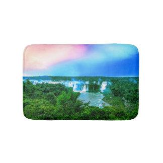 De tropische Waterval van Amazonië Badmat