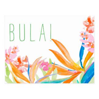 De tropische Waterverf Bula van de Paradijsvogel! Briefkaart