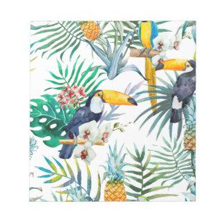 De tropische waterverf van de Vogel van de Notitieblok