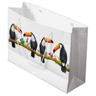 De tropische Zak van de Gift van de Vogels van de Groot Cadeauzakje